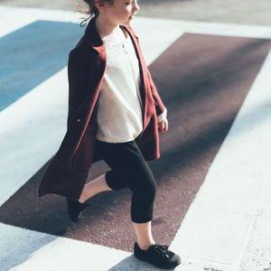 Zara Girls Black Crop Soft Pants